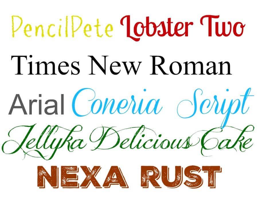 font choice matters