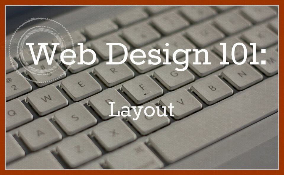layout of your website