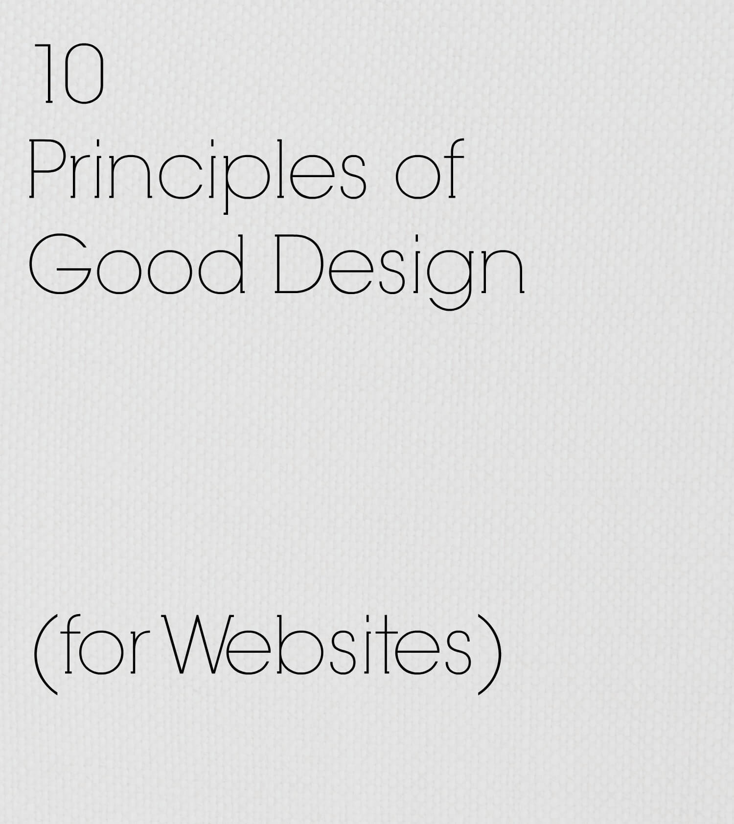 10 principles Two weeks ago, i talked about a new biweekly meeting that brian tinsman put together to allow all the designers of r&d to gather together and share ideas with one another.