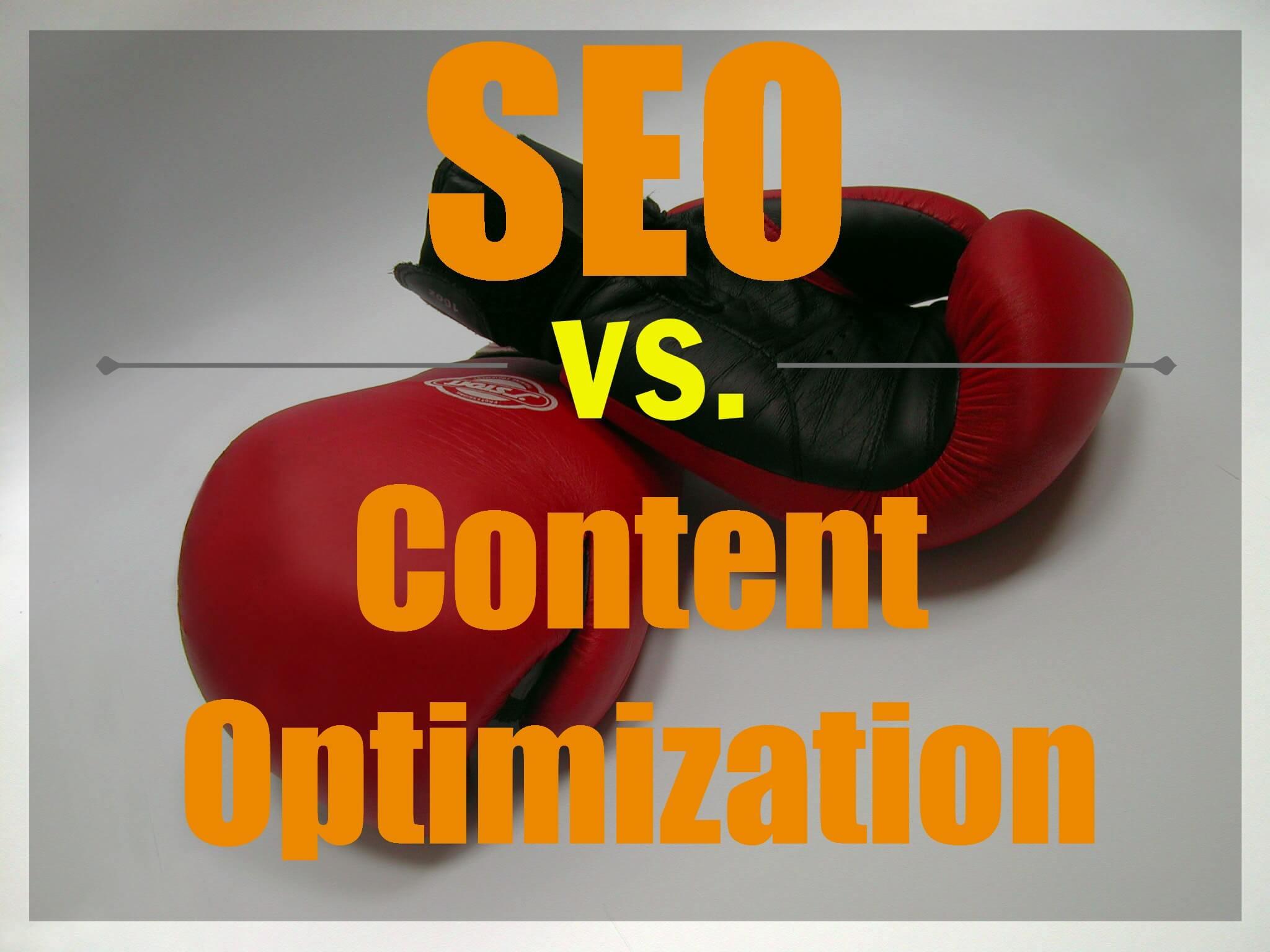 seo vs. content optimization