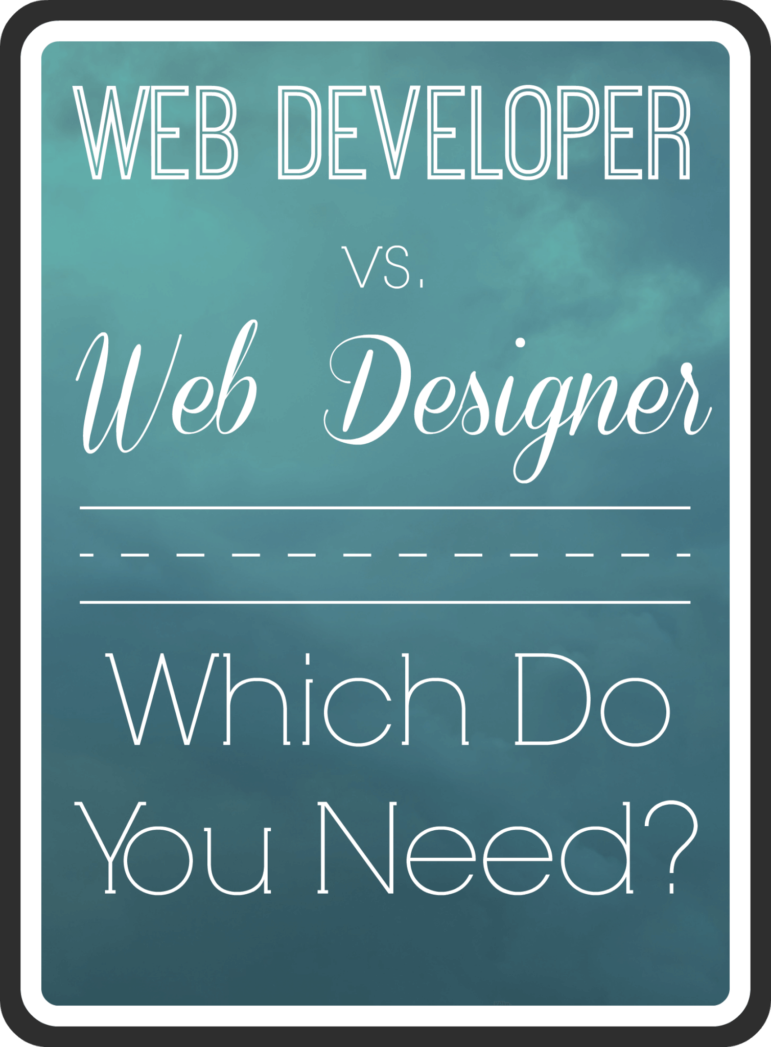 What's the difference between a web developer and a web designer?