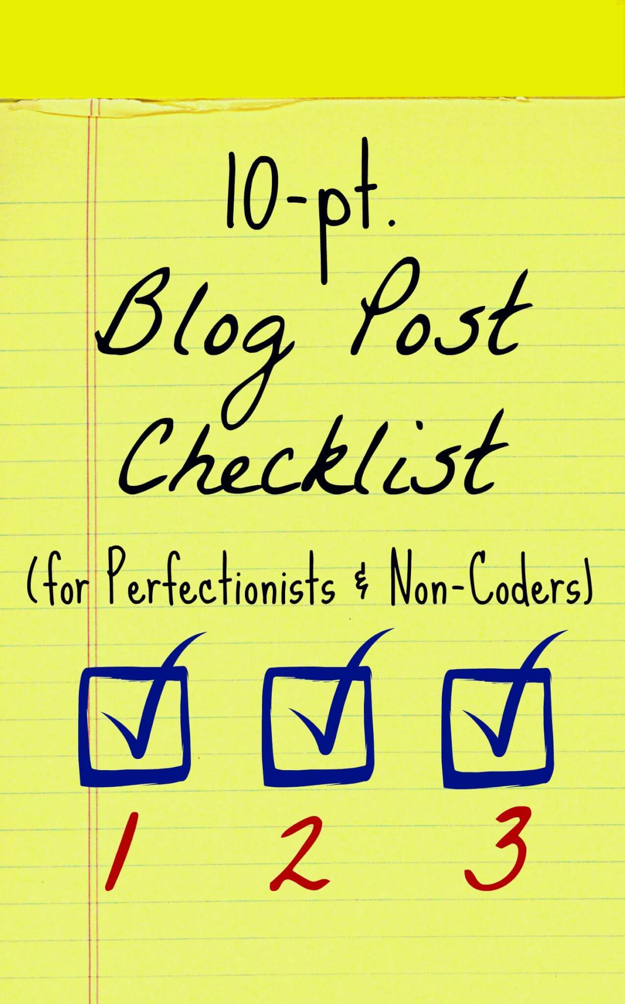 blog post checklist graphic header