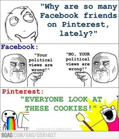 Pinterest v. facebook comic