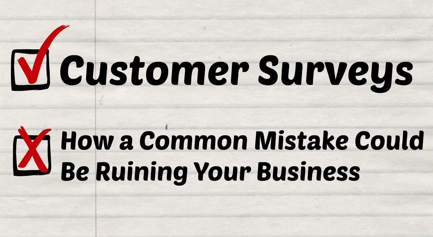 customer surveys