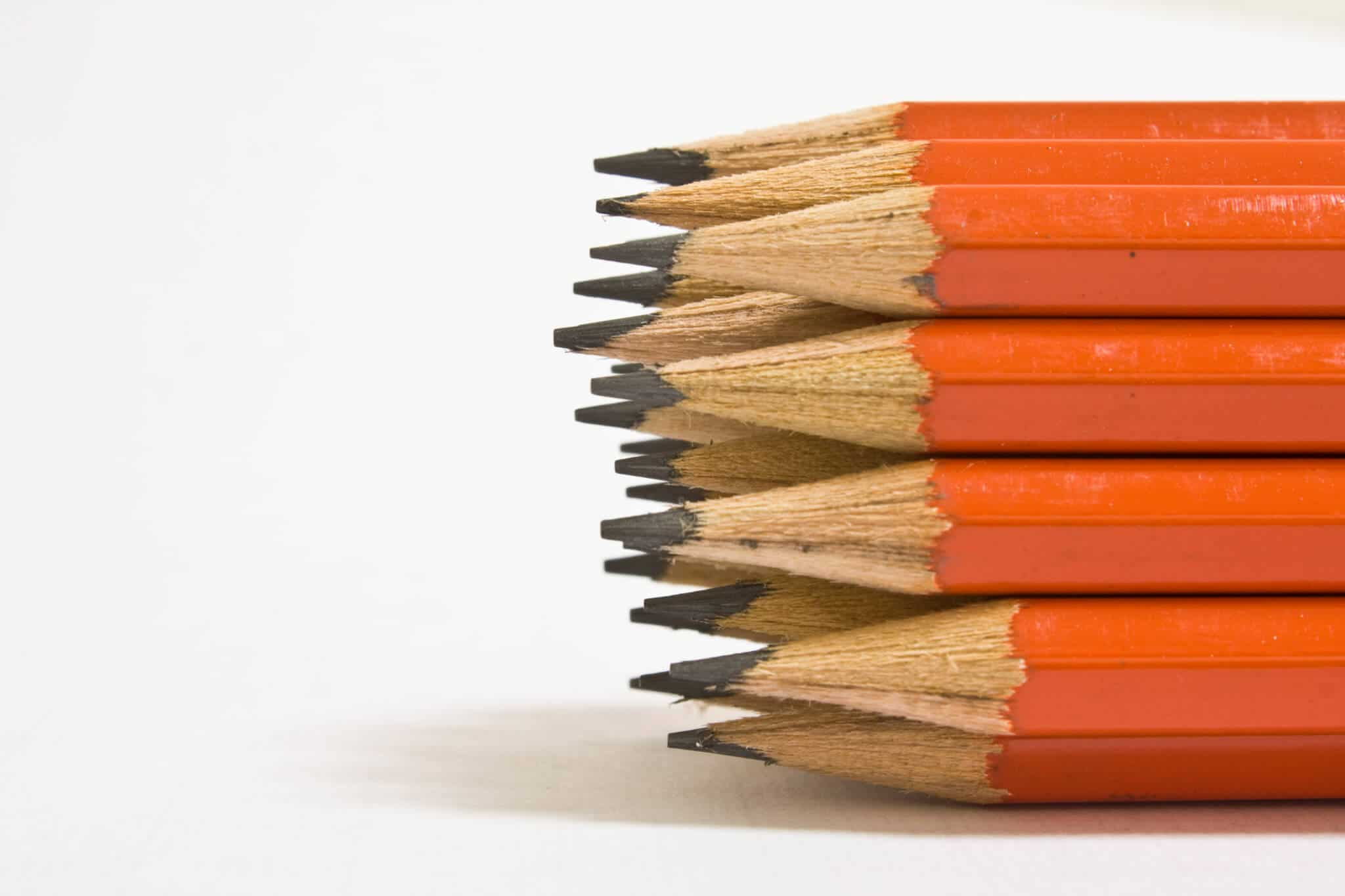 pile of identical pencils