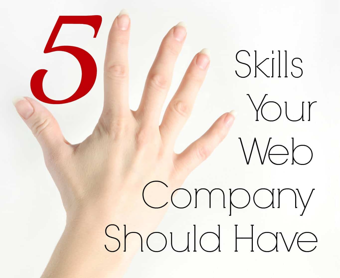 5 Skills Your Web Company Should Have