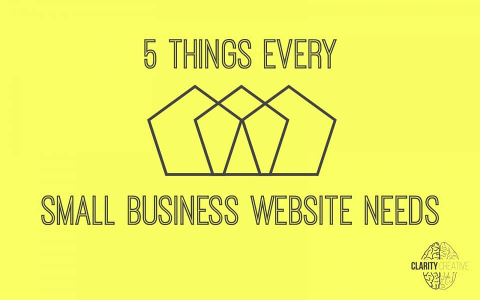 Is your web guy JUST a web guy? Make sure you're getting the 5 things that every small business website needs.