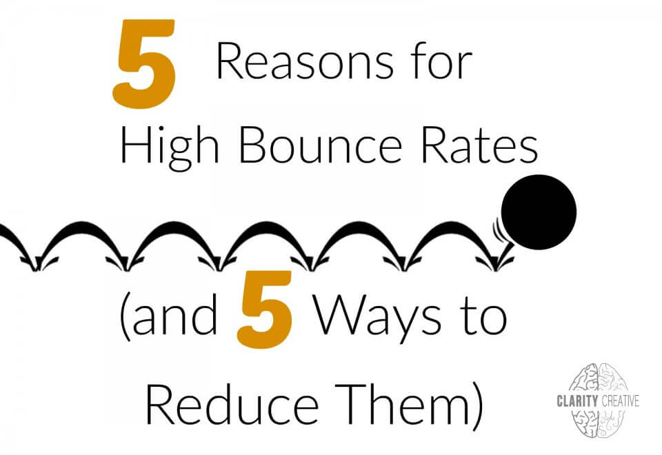 reasons and solutions for high bounce rates