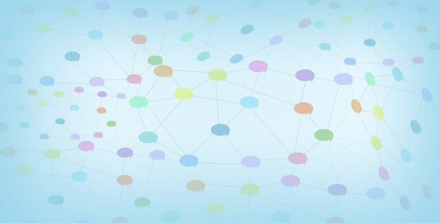 web of speech bubbles