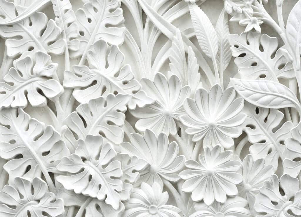 white concrete foliage