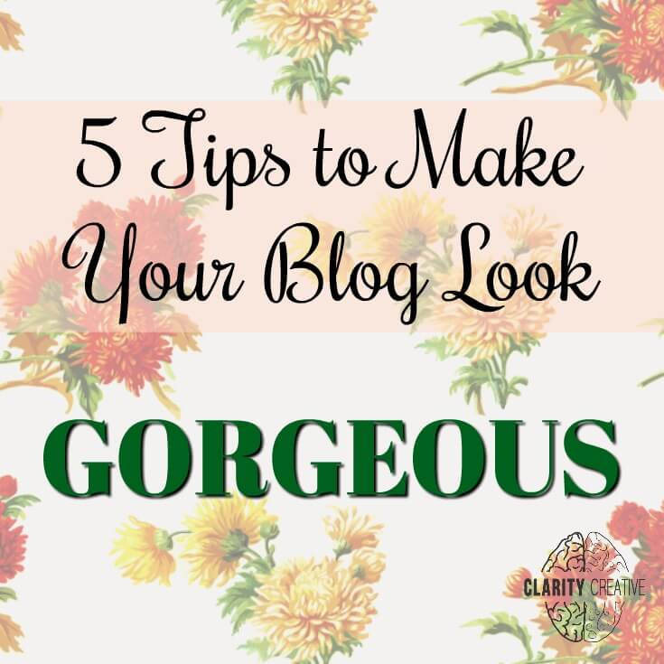 Make your blog look better to visitors, regular readers, and Pinterest users with these five simple tips.