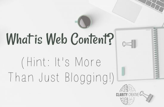 What is Web Content? (Hint: It's More Than Just Blogging!)